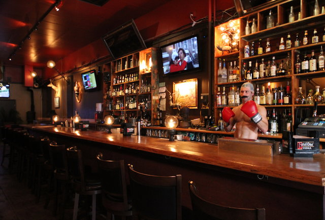 A knockout drinkery (plus a video starring that guy in the bald cap behind the bar)