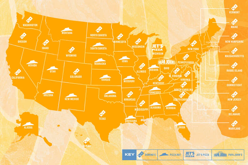 favorite pizza chain in every state
