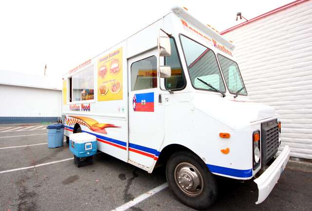 Authentic Haitian Eats from a truck
