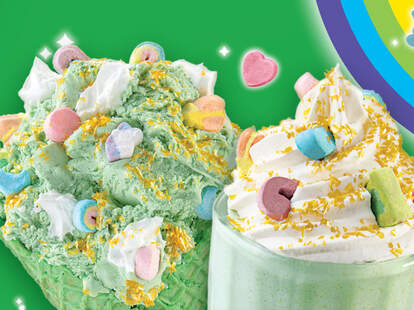 Cold Stone's new Lucky Charms ice cream and shake