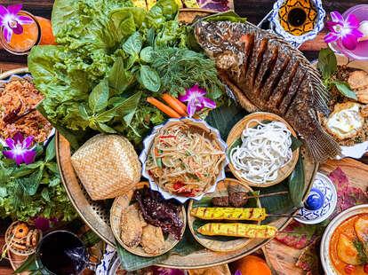 Lao Table spread
