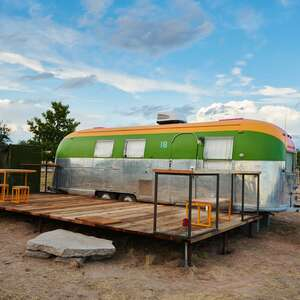 El Cosmico airstream trailer