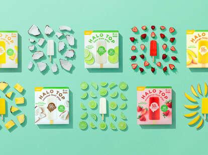 Halo Top's five varieties of fruit pop flavors.