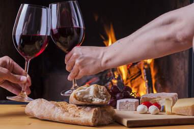 Zinfandel wine for dinner