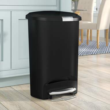 Simplehuman Plastic Step-On 13 Gallon Kitchen Trash Can