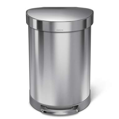 Simplehuman Stainless Steel Step-On 16 Gallon Trash Can
