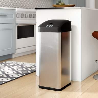 Ericksen Stainless Steel 13 Gallon Motion Sensor Trash Can