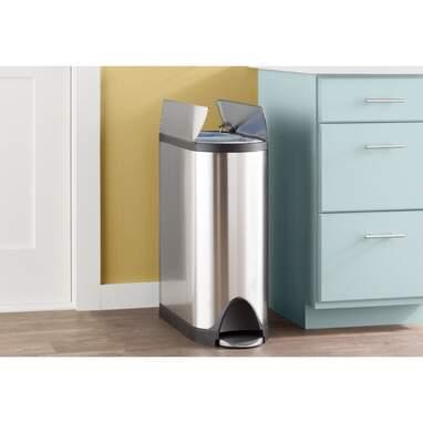 Simplehuman Step-On 10.5 Gallon Multi-Compartment Trash & Recycling Bin
