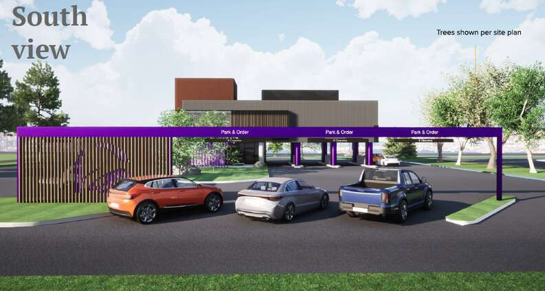 South view of Taco Bell design in Brooklyn Park, Minnesota