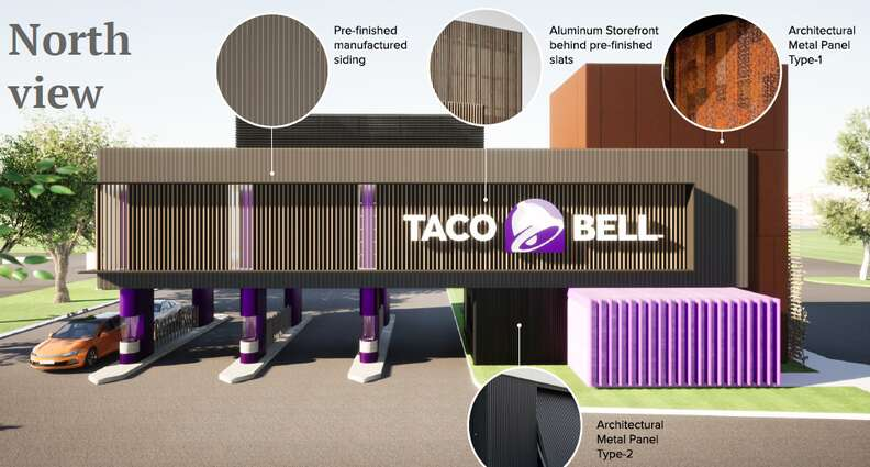 North view of Taco Bell design in Brooklyn Park, Minnesota