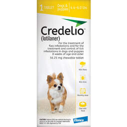 Credelio flea and tick treatments for puppies