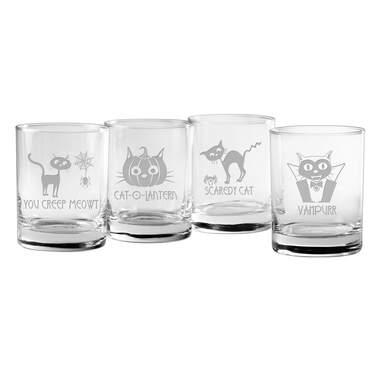Scaredy Cat 14 oz. Whiskey Glass Set