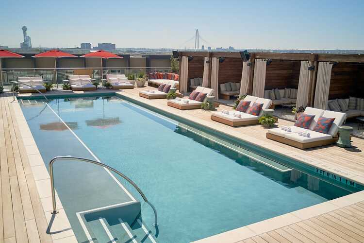 The Pool Club at the Virgin Hotels Dallas