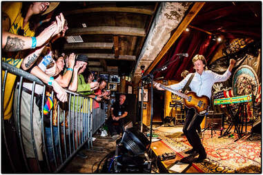 Sir Paul McCartney performing at Pappy and Harriet's