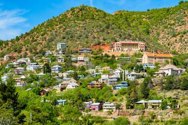 the hillside town of Jerome, AZ