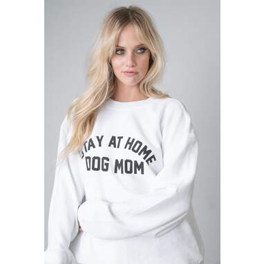 """""""Stay At Home Dog Mom™"""" Corded Oversized Sweatshirt"""