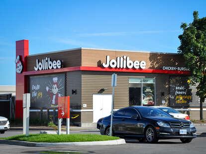 Jollibee drive-thru restaurant exterior