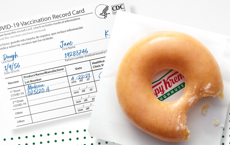 Krispy Kreme Will Give You a Free Donut Every Day in 2021 with Proof of Vaccination