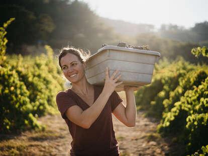 Martha Stoumen in vinyard