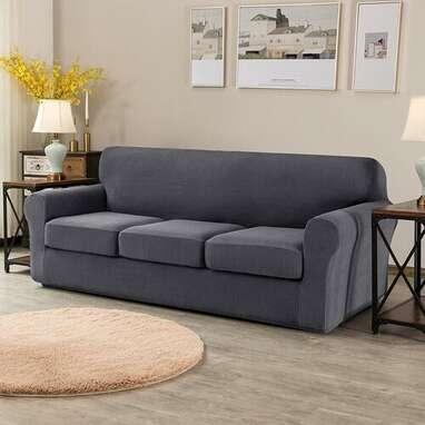 Soft Stretch Separate Box Cushion Sofa Slipcover