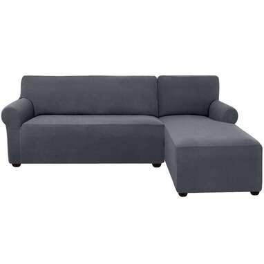 L-Shaped Right 2 Piece Box Cushion Sofa Slipcover