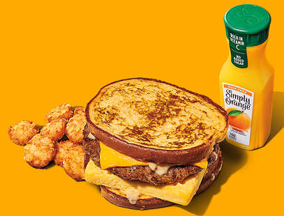 Burger King french toast sandwiches for breakfast
