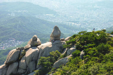 The view from the top of Bukhansan National Park