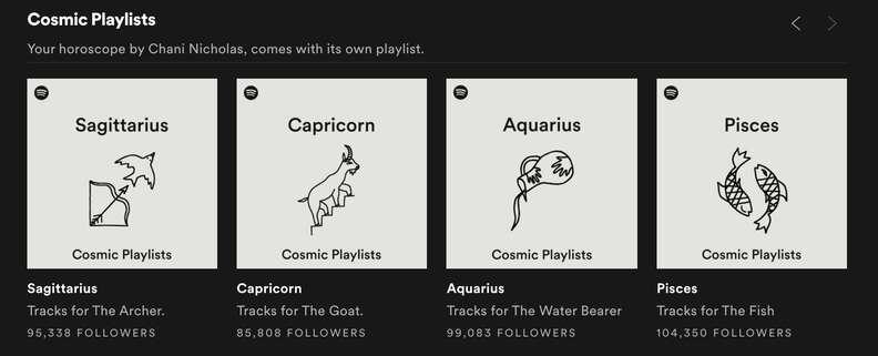 cosmic playlists spotify