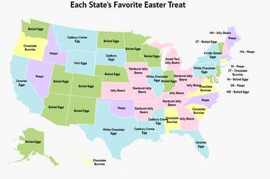 Every US state's favorite Easter treat