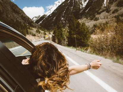 A person on a road trip.