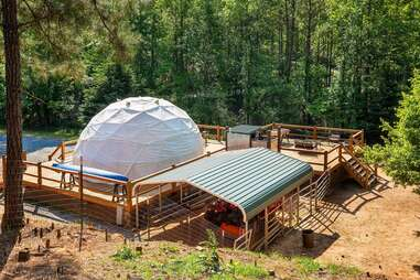 Glamping Geo Dome near Carters Lake
