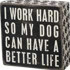 Dog Box Sign