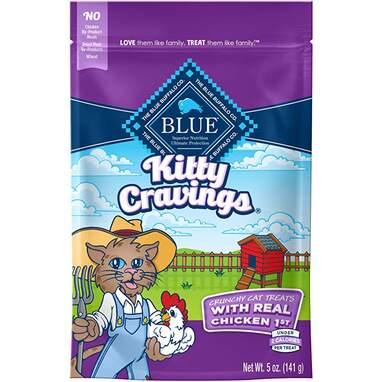 Blue Kitty Cravings Crunchy Cat Treats