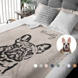 Custom Pet Blanket Using Pet Photo