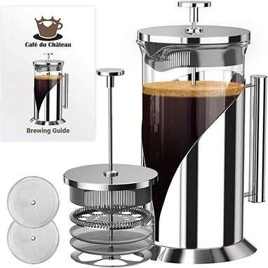 Cafe Du Chateau French Press Coffee Maker (34oz)