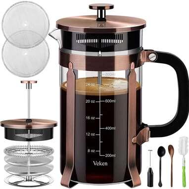 Veken French Press Coffee Maker (34oz)