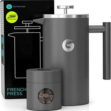 Coffee Gator French Press Coffee Maker with Travel Canister