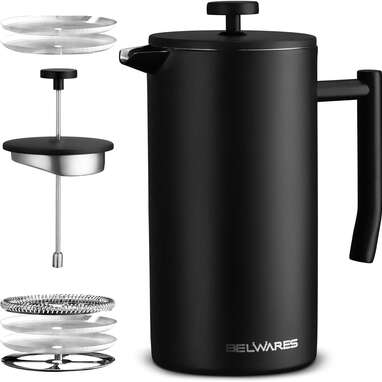 Belwares Large French Press Coffee Maker (50oz)