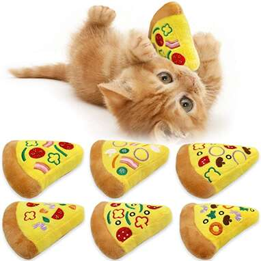 Catnip Pizza Toy (Set of 6)