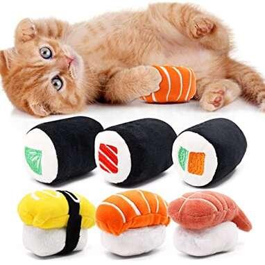 Sushi Catnip Toy (Set of 6)