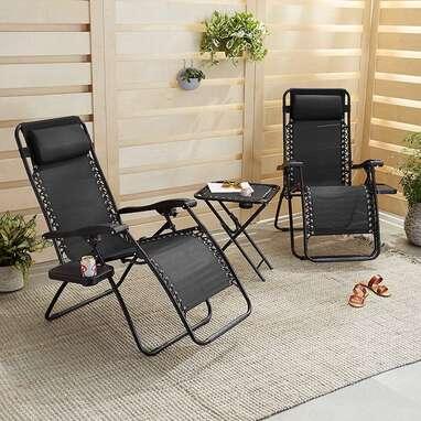Amazon Basics Zero Gravity Chair with Side Table