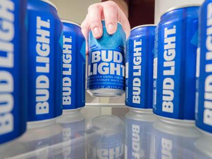 Bud Light stocked up in the fridge