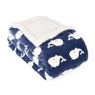 Blue Whale Ocean Baby Blanket