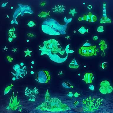 Glow in The Dark Ocean Fish Wall Decals
