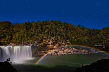 a moonbow at Cumberland Falls, Kentucky