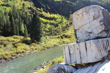 The Crystal River and Yule Quarry marble