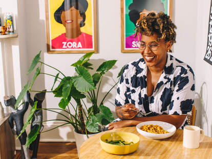 chef kia damon in her kitchen