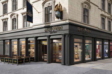 harry potter new york store exterior on Broadway
