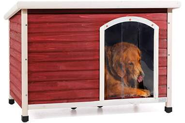 Petsfit Wooden Dog Houses with Raised Feet