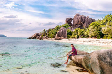 man on a tropical beach